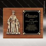 Engraved Walnut Plaque Police Award Casting Black Brass Wall Plaque Award Fire & Safety Awards