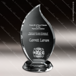 Crystal Clear Flame Trophy Award Flame Shaped Crystal Awards
