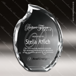 Crystal Clear Lambent Flame Trophy Award Flame Shaped Crystal Awards