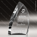 Crystal  Clear Blaze Flame Trophy Award Flame Shaped Crystal Awards