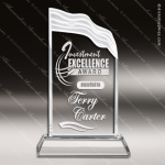 Crystal  Triple Edge Wave Fan Trophy Award Flame Shaped Crystal Awards