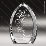 Crystal  Flame Jeweled Edge Trophy Award Flame Shaped Crystal Awards