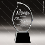 Crystal Black Accented Flame Trophy Award Flame Shaped Crystal Awards
