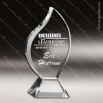 Crystal  Clear Flame Excellence Trophy Award Flame Shaped Crystal Awards