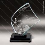 Glass Black Accented Flame Apollo Trophy Award Flame Shaped Glass Awards
