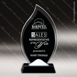 Maccord Torch Glass Black Accented Flame Trophy Award. Flame Shaped Glass Awards