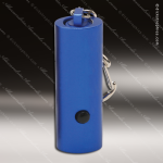 Laser Engraved Keychain 1 LED Flashlight 2 Blue Anodized Aluminum Gift Flashlight Keychains
