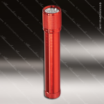 Laser Engraved Keychain 7 LED Flashlight 7.75 Red Anodized Aluminum Gift Flashlight Keychains