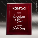 Engraved Rosewood Piano Finish Plaque Floating Acrylic Plate Wall Placard Floating Clear Acrylic Plaques