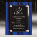 Engraved Acrylic Plaque Blue Artisitc Floating Stand-Off Wall Placard Awar Floating Clear Acrylic Plaques