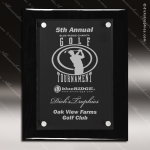 Engraved Black Piano Finish Plaque Floating Acrylic Award Floating Clear Acrylic Plaques
