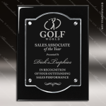 Engraved Acrylic Plaque Black Floating Plate Stand-Off Wall Placard Award Floating Clear Acrylic Plaques