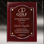 Engraved Rosewood Acrylic Plaque Piano Finish Floating Wall Placard Award Floating Clear Acrylic Plaques