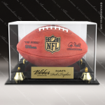 Engraved Clear Acrylic Football Display Case Football Coaches Gifts & Awards
