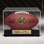 Engraved Clear Acrylic Football Display Case Football Display Case