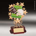 Kids Resin Starburst Series Football Trophy Awards Football Trophies
