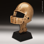 Premium Resin Bronze Sports Theme Football Helmet Trophy Award Football Trophies