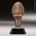 Premium Resin Bronze Sports Theme Football on Pedestal Trophy Award Football Trophies