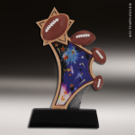 Resin Sports in Motion Series Football Trophy Award Football Trophies