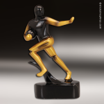 Resin Gold Mercury Black Abstract Series Football Trophy Award Football Trophies