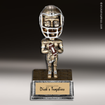 Resin Antique Bobble Head Series Football Male Trophy Award Football Trophies