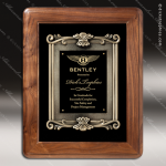 Engraved Walnut Plaque Framed Cast Flourish Insert Wall Placard Award Framed Plaques