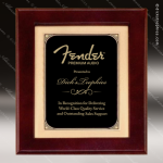 Engraved Rosewood Plaque Framed Black Plate Gold Border Award Framed Plaques