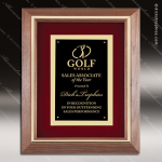 Engraved Walnut Plaque Framed Black Plate Velour Backed Wall Placard Award Framed Plaques