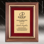 Engraved Walnut Plaque Framed Gold Plate Velour Backed Wall Placard Award Framed Plaques