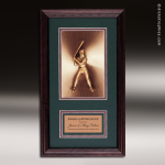 Corporate Framed Plaque Roman Edge Softball Wall Placard Award Framed Plaques