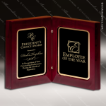 Engraved Rosewood High Gloss Book Plaque Trophy Award Free Standing Plaques