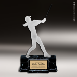 Resin Frosted Action Series Baseball Male Trophy Award Frosted Action Resin Trophy Award