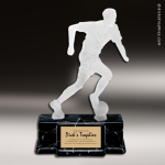 Resin Frosted Action Series Soccer Male Trophy Award Frosted Action Resin Trophy Award