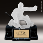 Resin Frosted Action Series Hockey Goalie Male Trophy Award Frosted Action Resin Trophy Award