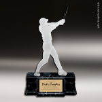 Resin Frosted Action Series Baseball Female Trophy Award Frosted Action Resin Trophy Award