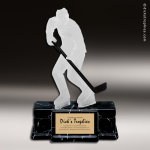 Resin Frosted Action Series Hockey Male Trophy Award Frosted Action Resin Trophy Award