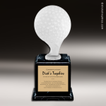 Resin Frosted Ball Pedestal Series Golf Trophy Award Frosted Ball Pedestal Series