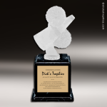 Resin Frosted Ball Pedestal Series Cheerleading Trophy Award Trophy Award Frosted Ball Pedestal Series