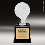 Resin Frosted Ball Pedestal Series Globe Trophy Award Frosted Ball Pedestal Series