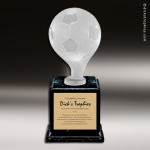 Resin Frosted Ball Pedestal Series Soccer Trophy Award Frosted Ball Pedestal Series