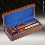 Genuine Walnut Piano Finish Engraved Executive President Gavel Presentation Gavel Presentation Sets