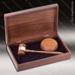 Genuine Walnut Engraved Executive President Gavel Presentation Case Award Gavel Presentation Sets