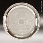 Round Silver-Plated Tray Gift Awards