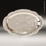 Oval Silver-Plated Tray Gift Awards
