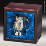 Nickel Plated Golf Tankard In Wood Box Gift Awards