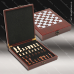 Engravable Gift Rosewood Chess Presentation Box Set Award Gift & Wine Display Collection
