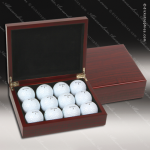 Engravable Gift Rosewood Golf Ball Presentation Box Set Award Gift & Wine Display Collection