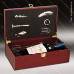 Engraved Etched Wine Tool Set Rosewood Presentation Box Glasses Gift Set Aw Gift & Wine Display Collection