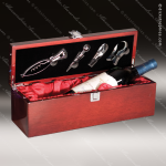 Engraved Etched Wine Tool Set Rosewood Presentation Box Gift Set Award Gift & Wine Display Collection