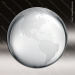 Crystal  Clear Ocean World Globe Paperweight Trophy Award Globe Shaped Crystal Awards